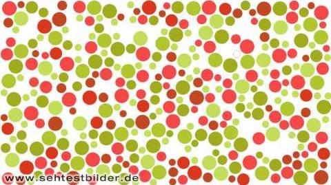 Rot-grün Sehtest - tanzende Punkte