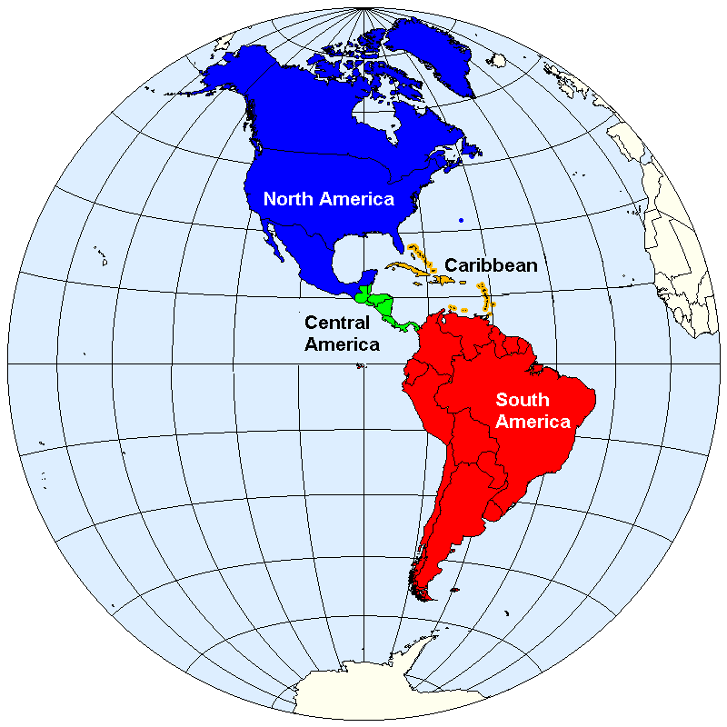 Map of america amero wiki fandom powered by wikia this is the un official map of the americas which includes north america blue central america green caribbean yellow and south america red gumiabroncs Images