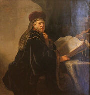 568px-Rembrandt - A Scholar Seated at a Desk-1-