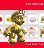 Mario amiibocostume gold