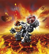 Dark Hammer Slam Bowser Artwork