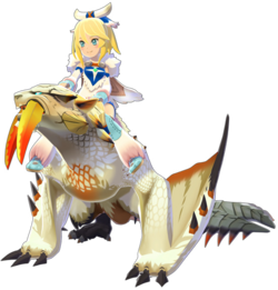 Barioth y Avinia en Monster Hunter Stories