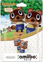 Embalaje japones del amiibo de Tendo y Nendo - Serie Animal Crossing