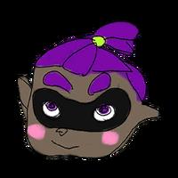 Retrato amiibo de Inkling chico (purpura) - WarioWare Gold