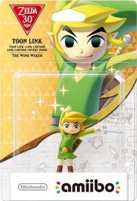 Embalaje europeo del amiibo de Toon Link (The Wind Waker) - Serie 30 aniversario TLoZ