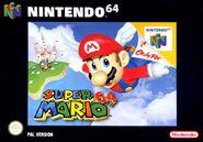 Caja de Super Mario 64 (Europa)