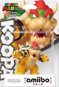 Embalaje japonés del amiibo de Bowser - Serie Super Mario