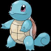 Artwork de Squirtle en los primeros juegos de Pokémon