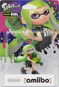 Embalaje americano del amiibo de Inkling chica (verde) - Serie Splatoon