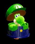 Atuendo de manualidad de Luigi - Yoshi's Crafted World