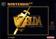 Caja de The Legend of Zelda - Ocarina of Time (Europa)