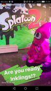 Imagen del Instagram de Nintendo con el supuesto amiibo de Splatoon