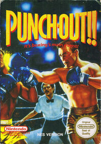 Caja de Punch-Out!! (Europa)
