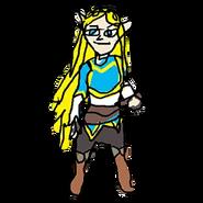 Retrato amiibo de Zelda - WarioWare Gold