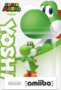Embalaje europeo del amiibo de Yoshi - Serie Super Mario