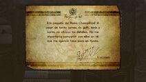 Mensaje de Rodin al escanear un amiibo de la franquicia Super Mario - Bayonetta 2