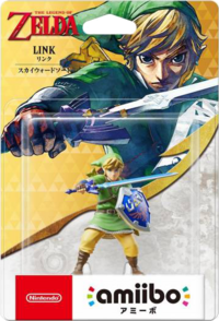 Embalaje japonés del amiibo de Link (Skyward Sword) - Serie 30 aniversario TLoZ