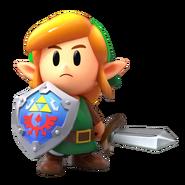 Link en The Legend of Zelda Link's Awakening