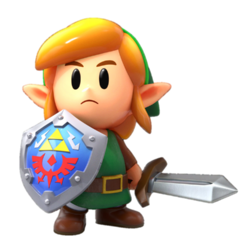 Link en The Legend of Zelda Link's Awakening