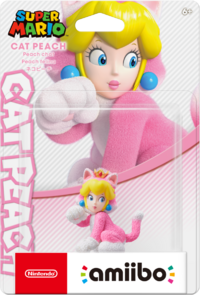Embalaje NTSC del amiibo de Peach Felina - Serie Super Mario