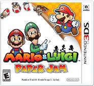 Caja de Mario & Luigi Paper Jam (América)