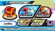 Opción amiibo en el menú del juego - Super Smash Bros. for Wii U