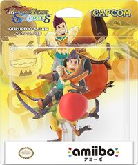 Embalaje del amiibo de Qurupeco y Dan - Serie Monster Hunter