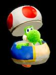 Atuendo de manualidad de Toad - Yoshi's Crafted World