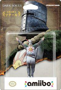 Embalaje japonés del amiibo de Solaire de Astora - Serie Dark Souls