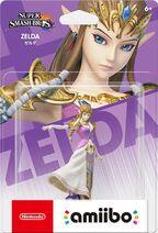 Embalaje NTSC del amiibo de Zelda - Serie Super Smash Bros.