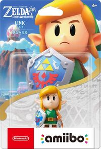 Embalaje NTSC del amiibo de Link (Link's Awakening) - Serie The Legend of Zelda