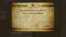 Mensaje de desbloqueo de la Bala divina Cazarrecompensas - Bayonetta 2