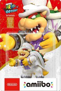 Embalaje europeo del amiibo de Bowser (Nupcial) - Serie Super Mario