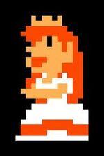 Sprite de Peach en Super Mario Bros.