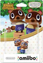 Embalaje europeo del amiibo de Tendo y Nendo - Serie Animal Crossing