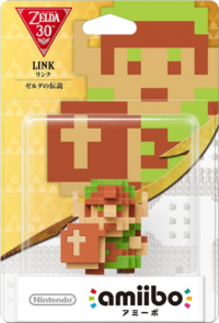 Embalaje japonés del amiibo de Link (The Legend of Zelda) - Serie 30 aniversario TLoZ