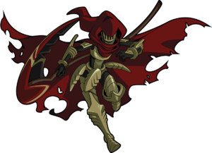 Specter Knight en Shovel Knight Treasure Troves