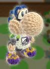 Patrón Inkling chico - Yoshi's Woolly World
