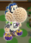 Patrón Inkling chico - Yoshi's Woolly World