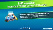 Pantalla de desbloqueo del uso de amiibo - Mario + Rabbids Kingdom Battle
