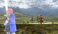Roy en batalla - Fire Emblem Echoes Shadows of Valentia