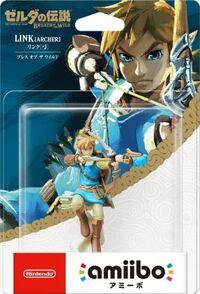 Embalaje japonés del amiibo de Link (arquero) - Serie The Legend of Zelda