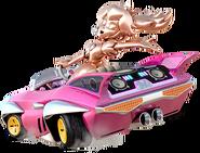 Peach de oro rosa en Mario Kart 8