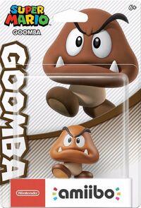 Embalaje americano del amiibo de Goomba - Serie Super Mario