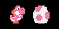 Traje de Yoshi de lana rosa - Super Mario Maker