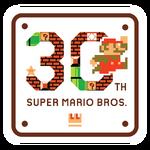 Logo del 30 aniversario de Mario