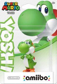 Embalaje americano del amiibo de Yoshi - Serie Super Mario