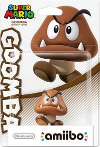 Embalaje europeo del amiibo de Goomba - Serie Super Mario