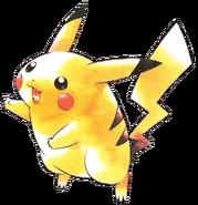 Artwork de Pikachu en los primeros juegos de Pokémon
