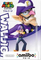 Embalaje japonés del amiibo de Waluigi - Serie Super Mario